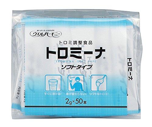 ウエルハーモニー0-7277-26トロミーナ(とろみ調整食品)ソフトタイプ(2g×50本入)×10袋入 B07BD2KJ2X