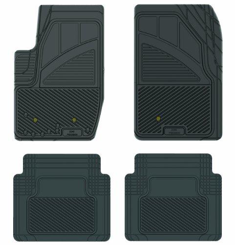 Koolatron Pants Saver Custom Fit 4 Piece All Weather Car Mat for Select Ford Explorer Sport Trac Models (Black) ()