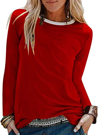 Camisas de Mujer Blusas de Moda Camisas Lisas Ocasionales para Mujer Blusa Suelta con Cuello en V Manga Larga Slim Fit Blusas Camisa de poliéster Casual Elegante Estilo Simple LiNaoNa: Amazon.es: Ropa