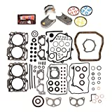 Evergreen Engine Rering Kit FSBRR9009EVE 99-03 Subaru Impreza Forester 2.5 SOHC EJ25 Full Gasket Set, 0.25mm / 0.010'' Oversize Main Rod Bearings, 0.50mm / 0.020'' Oversize Piston Rings