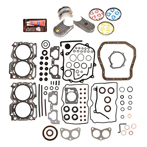 99 Conversion Set (Evergreen Engine Rering Kit FSBRR9009EVE\0\0\0 99-03 Subaru Impreza Forester 2.5 SOHC EJ25 Full Gasket Set, Standard Size Main Rod Bearings, Standard Size Piston Rings)
