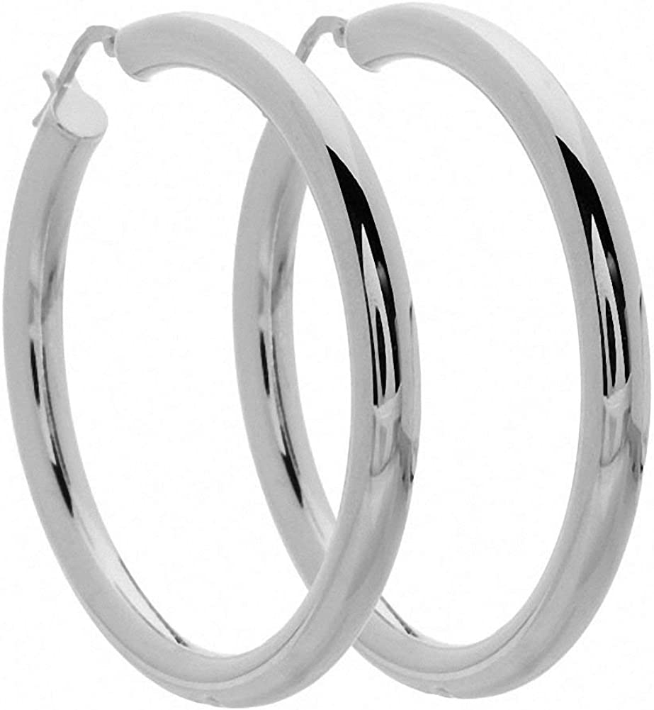 Taxco Sterling Silver Large Hoop Earrings Matte Silver Hoops Polished Silver Bands 1 12 Hoops Handcrafted Pierced Earrings Gift for Her