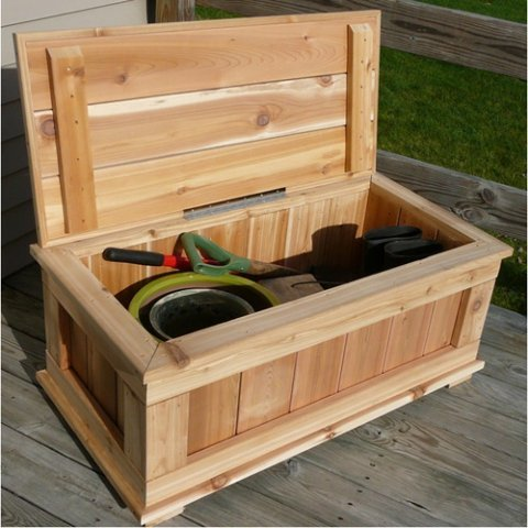 Infinite Cedar Premium Quality 40 in. Cedar 20-Gallon Storage Bench
