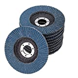 Zirconia Corundum 5 Inch Flap Disc Sanding Grinding Wheel 20 Pack (Each 5 of 40 60 80 120 Grit,Blue)