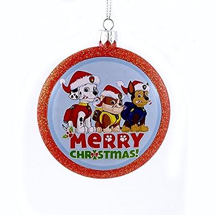 Paw Patrol Christmas Ornament.Kurt Adler Paw Patrol Dogs Merry Christmas Shatterproof Disc Ornament