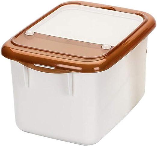 PENGJIE Cocina Contenedor de Alimentos Arroz Caja de Almacenamiento Harina 5 kg Plástico Resistente a la Humedad con Taza de medir Barril de arroz: Amazon.es: Hogar