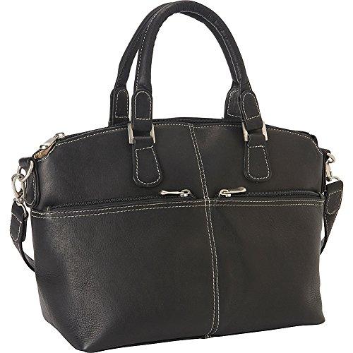 Le Donne Leather Classic Satchel (Black)