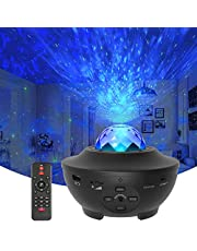 Star Projector Galaxy Light Projector with Ocean Wave Projector, Music Speaker, Voice Control&Timer, Nebula Cloud Ceiling Light Projector for Baby Kids Adults Bedroom/Decoration/Birthday/Party