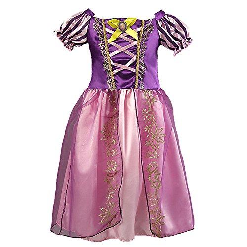 [Z.D 2015 Girls Princess Sofia Dress Cinderella Costume Bling Ball Dress Size 100(US 2T) Purple,Purple,100(US] (Cinderella Play Costumes)