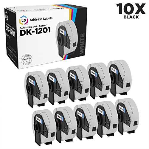LD Compatible Address Label Replacements for Brother DK-1201 1.1 inch x 3.5 inch (10-Pack)