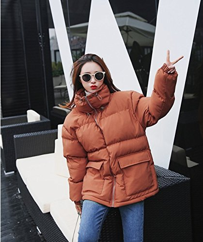 Thick Coat Colour Short Cotton Jacket Winter Loose Xuanku Jacket caramel Paragraph Harajuku Bread Down FwOtqvP