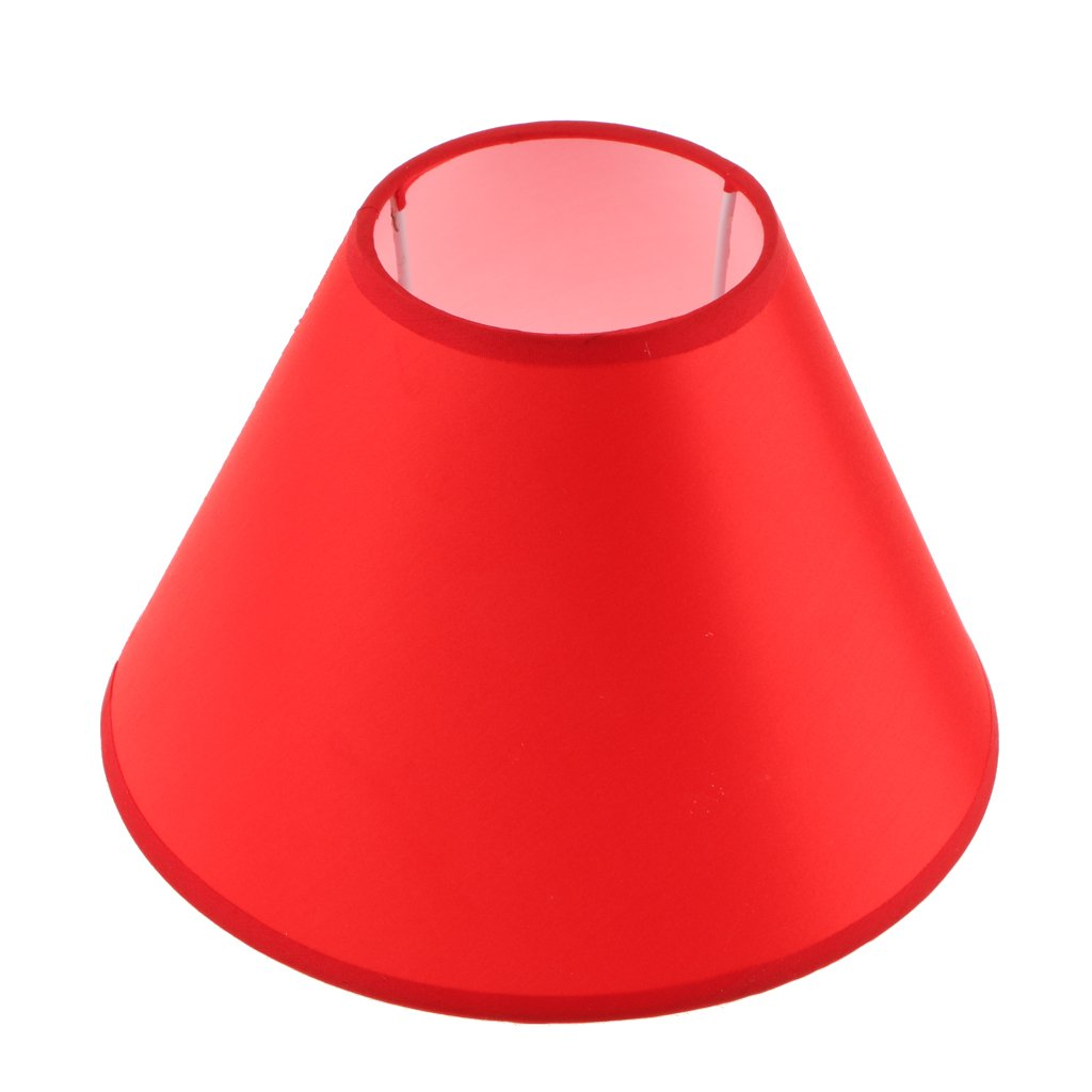 LOVIVER Lampe De Chevet Abat-jour En Tissu Abat-jour En Tissu Pour Café Chambre Bureau Étude Accueil Luminaires - Orange