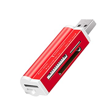 Amazon.com: Lector de tarjetas USB 2.0 SD/TF tarjeta de ...