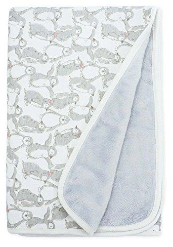 Keepersheep Baby Blanket Swaddle Blanket, Cotton Knee Blanket, Knit Muslin Baby Swaddle Wrap Receiving Blanket (Penguin Print)