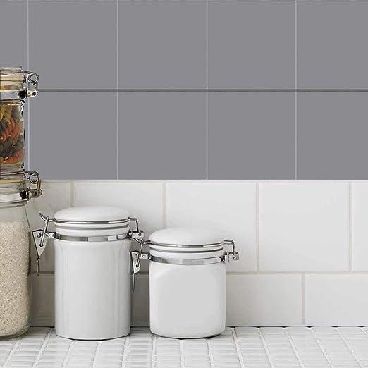 Amazon Com Holoras Peel And Stick Tile Backsplash For Kitchen 6 X 6 Removable Stick On Kitchen Backsplash Wall Sticker 50pcs 50pcs Grey Kitchen Dining