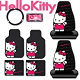 New Hello Kitty Core Auto Car Front Seat Cover Floor Mat Accessories Set 8pc Fast Shipping and Ship Worldwide