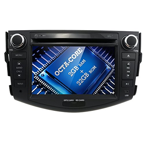 8 Core Android 7 Inch Toyota RAV4 Car Audio GPS Stereo 2GB 32GB DVD Player Year 2007 2008 2009 2010 2011 2012 Bluetooth,GPS,RDS,Radio