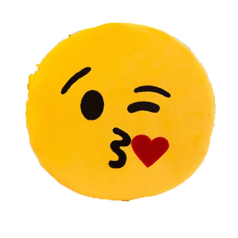 Juguete de peluche almohada de expresi/ón mu/ñeca de dibujos animados lindo coj/ín de oficina coj/ín risas l/ágrimas 45 cm