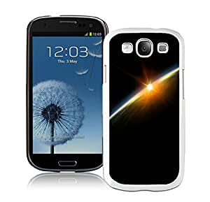Outer Space Lightening Planet White Samsung Galaxy S3 Phone Case Charming and Melting Design