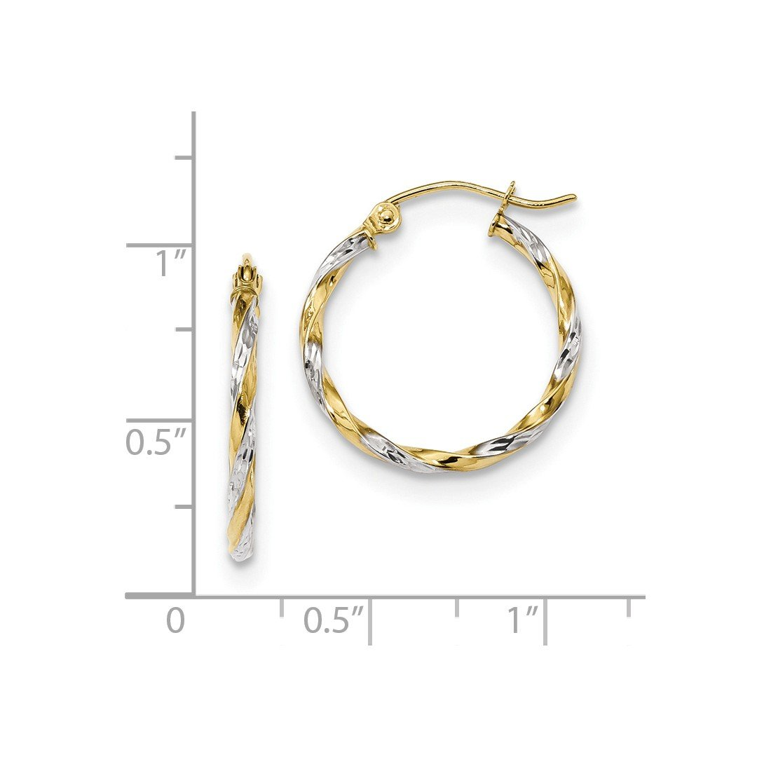 ICE CARATS 10kt Yellow Gold Twisted Hoop Earrings Ear Hoops Set Fine Jewelry Ideal Gifts For Women Gift Set From Heart by ICE CARATS (Image #2)