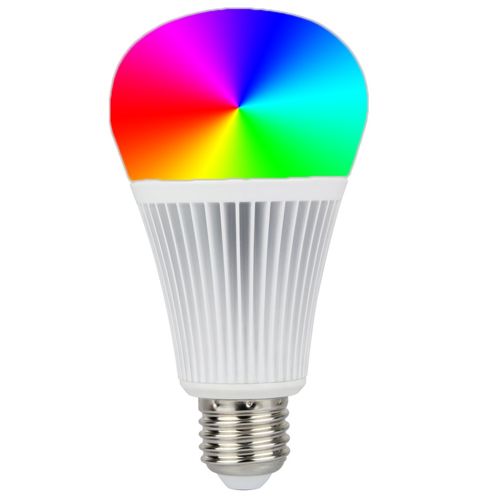 Mi.Light DMX512 LED Light Bulb 9W RGB+CCT Color Changing and Color Temperature Adjustable,Must Work with Milight DMX512 Transmitter by LGIDTECH