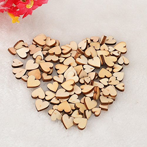 100pcs Rustic Wood Wooden Love Heart Wedding Table Scatter Decoration Crafts DIY Craft Accessories vintage wedding decorations