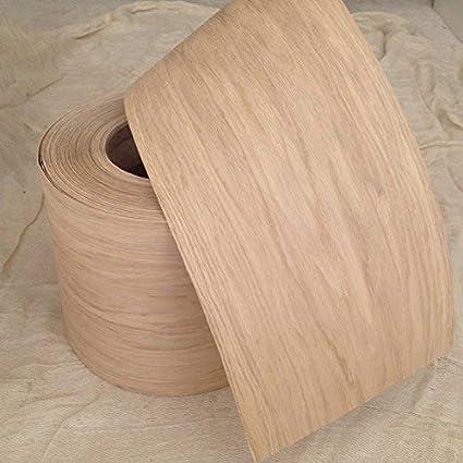 Preglued Real Oak Wood Veneer Sheets 250mm Wide. (2000mm - 2metres) Iron on oak wood veneer