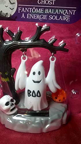 HALLOWEEN SOLAR POWERED - SWINGING GHOST - HOLIDAY DANCING MOVING MONSTER TOY DECORATION (Cute Halloween Yard Decoration Ideas)