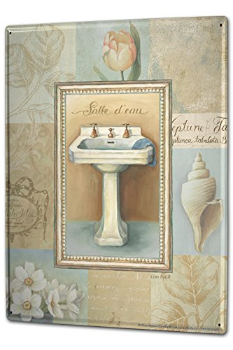 Tin Sign XXL Retro Sink tulip mussel Nostalgia by LEOTIE