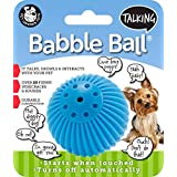 Pet Qwerks Talking Babble Ball Toy for Dogs and Cats, Small