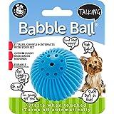 Pet Qwerks Juguete Interactivo para Perros Talking Babble Ball, Wisecracks y Hace Sonidos Divertidos Cuando se Toca, Standart, Azul, Pequeño
