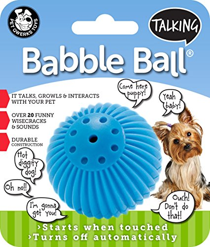 Pet Qwerks Talking Babble Ball Interactive Dog Toys – Wisecracks & Makes Funny Sounds, Electronic Talking Treat Ball that Talks & Makes Noise – Avoids Boredom & Keeps Active | For Small Dogs & Puppies