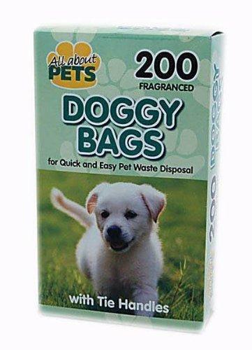 Allaboutpets Lot de 200 sachets parfumés à poignées pour déjections canines Noir all about pets