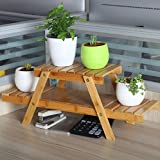 Nanzhuang desktop small flower rack solid wood multi - shelf