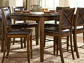 Homelegance Verona Dark Oak Counter Height Table