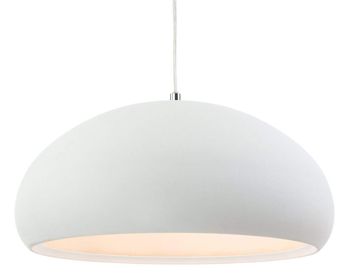 Firstlight 2308CN Costa Pendelleuchte, E27, Edison-Schraube, 60 W, rauher Beton Sand Weiß