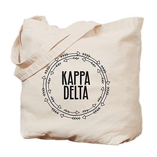 CafePress–Kappa Delta flechas–Gamuza de bolsa de lona bolsa, bolsa de la compra