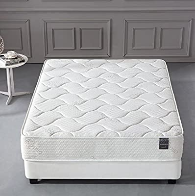 Oliver Smith - Organic Cotton - 10 Inch - Firm Mattress - Cool Memory Foam & Pocket Spring Mattress - Green Foam Certified