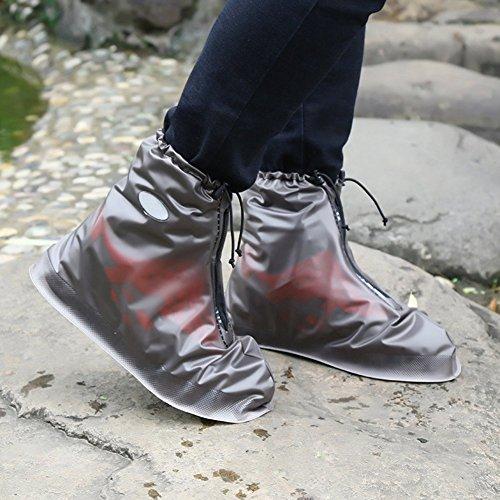 Women Shoes Reusable For Slip Rain Boots Wear Waterproof Snow resistant Lanlan resistant Men Coffee amp; Xxl Overshoes Covers Z7YxYf
