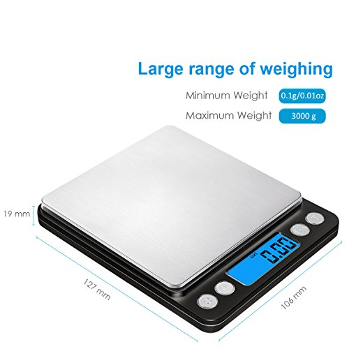 Amir digital kitchen scale 3000g pocket for 0 1g kitchen scales