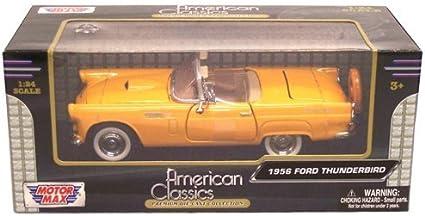 MotorMax 1956 FORD THUNDERBIRD ORANGE 1//18 Diecast