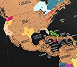 Landmass Scratch Off World Map Poster. Original