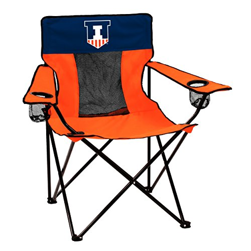Logo Collegiate Folding Elite Chair with Mesh Back and Carry Bag