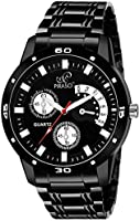 Piraso Analog Black Watch for- Men