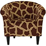 Parker Lane uch-MRL-pon2 Safari Club Chair, Giraffe Print