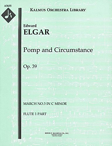 (Pomp and Circumstance, Op.39 (March No.3 in C minor): Flute 1 and 2 parts (Qty 2 each) [A5635])