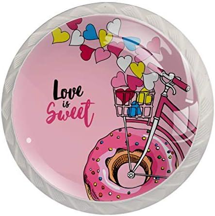 Lade Handgrepen Pull voor Thuis Keuken Dressoir GarderobeBike Een Roze Donut Wiel