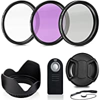 Professional 52MM Lens Filter Accessory Kit + Wireless Remote Control, 8 Piece Lightweight, Compact Accessories For Nikon