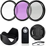DEALS NUMBER ONE Professional 55MM Lens Filter Accessory Kit + Wireless Remote Control, 8 Piece Lightweight, Compact Accessories for Nikon