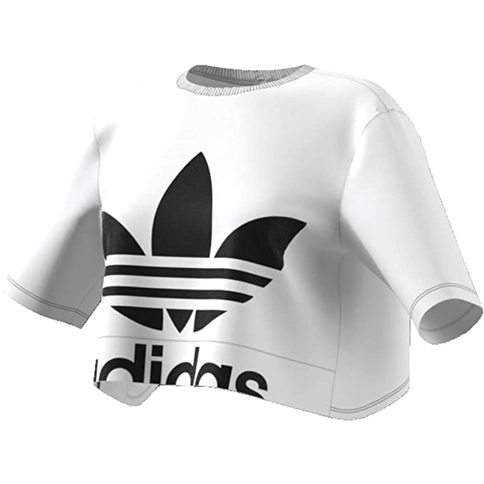 adidas T-Shirt Top Back Cutout Tee White Donna ED4774 ...